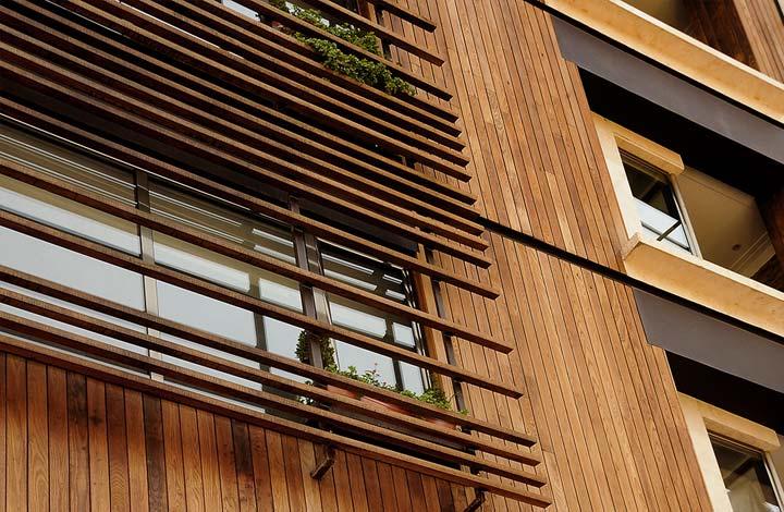 پیمانکار نما . دلایل استفاده از چوب پلاست در اجرای نمای ساختمان ها . اجرای نما .