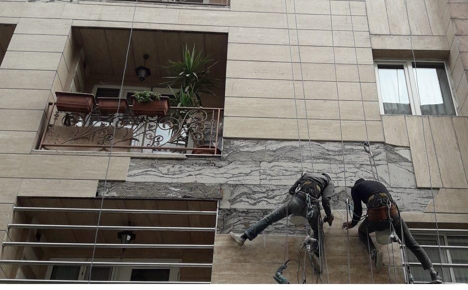 زیر سازی در اجرای نمای ساختمان . پیمانکار نما