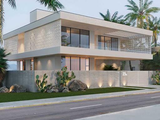 اجرای نمای ساختمان یک طبقه