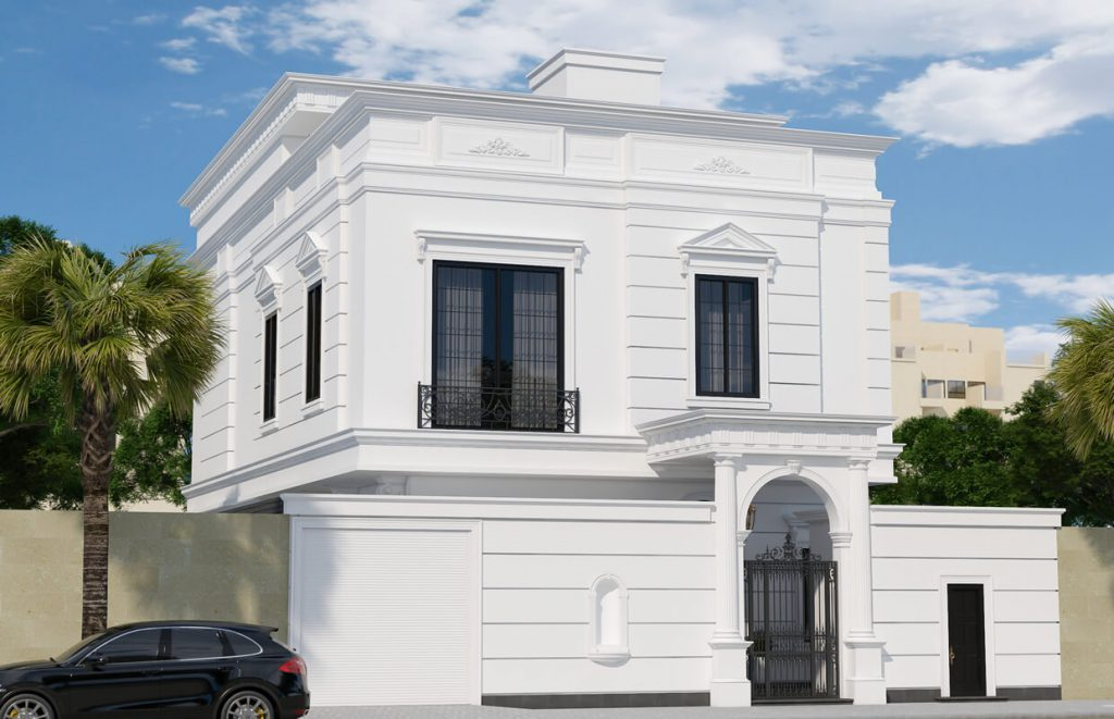 اجرای نمای سیمانی ساختمان مسکونی